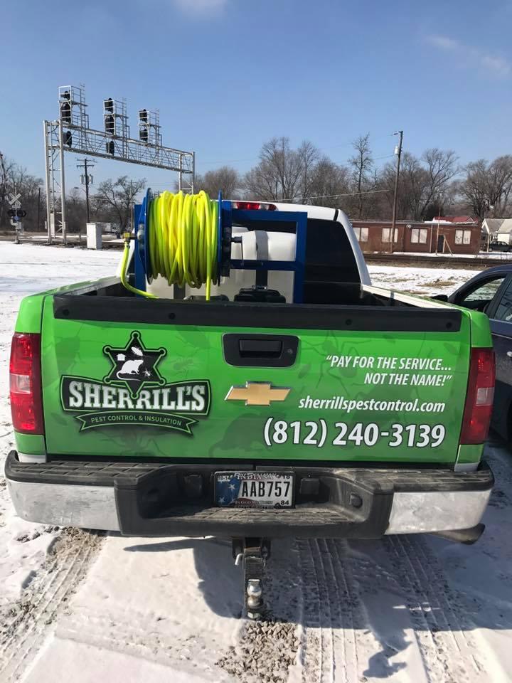 Sherrill's Pest Control Truck